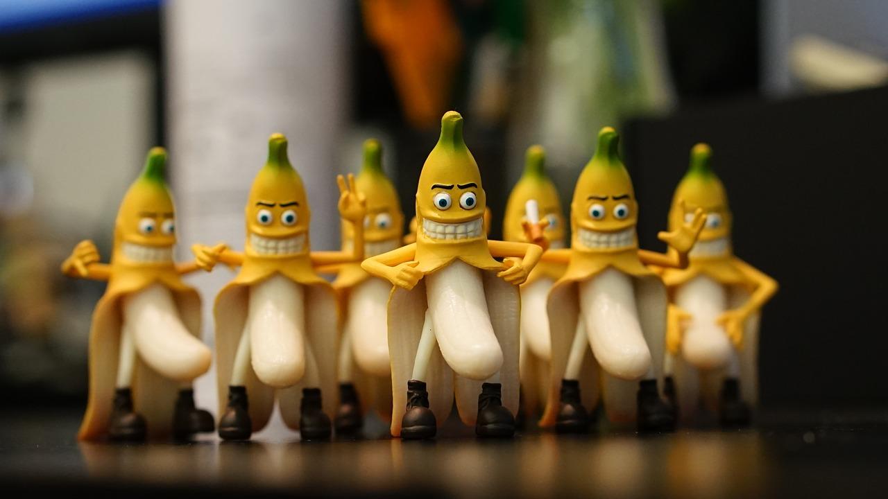 Банан картинки прикол, букетами